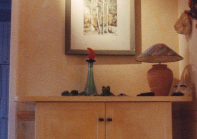 Möbelgestaltung mit Wandlasuren