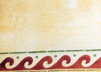 Schablonieren mit einem Wellen-Muster
