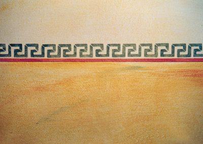 Schablonieren mit einem Mäander-Muster